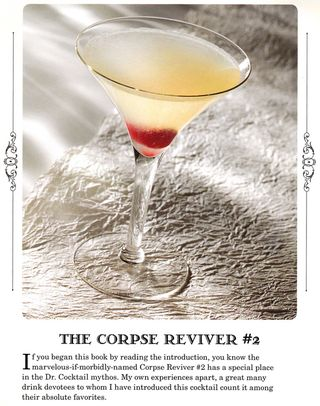 Vintage cocktail recipe corpse reviver