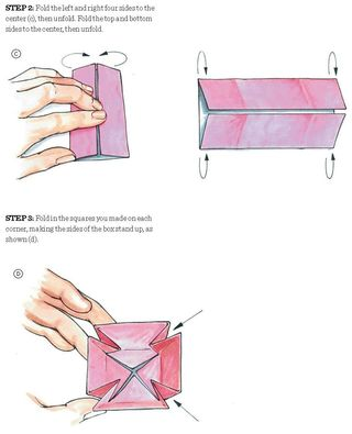 How to fold an origami box and lid