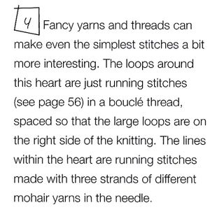 Fancy yarn embroidery boucle stitched loop knit