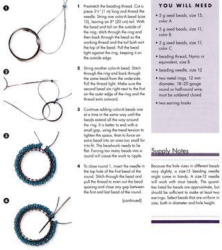 How to make split ring beaded hoops