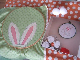 Fabric bunny ears easter decoration