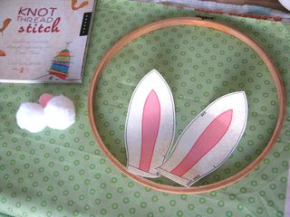 Bunny ears embroidery hoop decoration