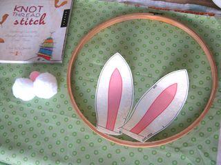 Bunny ears embroidery hoop decoration