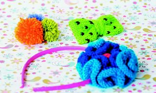 Knit bow pattern how to polka dot