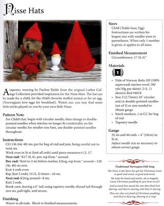 Nisse hat knit hat pattern free how to