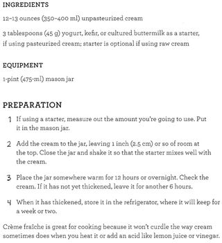 Recipe for creme fraiche how to make
