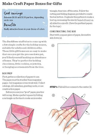 How to fold a gift box origami