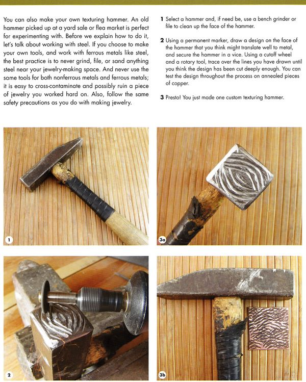 Craftside: How To Make Your Own Texturing Hammer From The