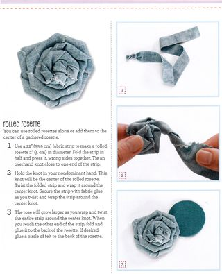 How to make a rolled rosette
