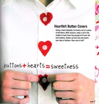 How to make heart button covers