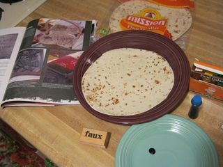 How to rubber stamp on tortillas