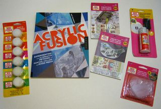 Mod podge supplies book art