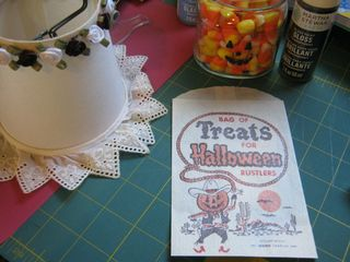 Halloween mod podge lamp shade