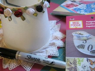 Sharpie to change color of fabric rose