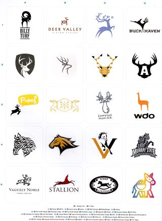 Logos with deer antlers ideas