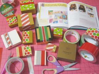 How to recycle gift boxes with duck tape