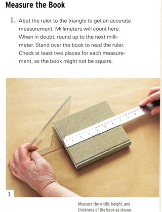 How to measure a book for slipcover