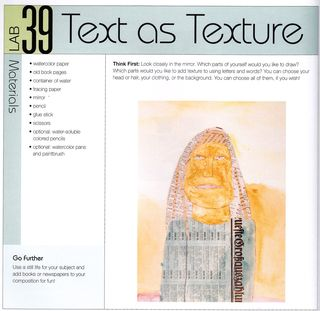 How to use paper text to create collage