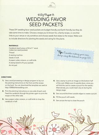 How to make wedding favor seed packets