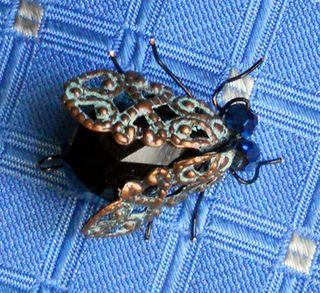 Bead bugs flytietack metal wings