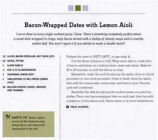 Recipe for bacon wrapped dates lemon aioli