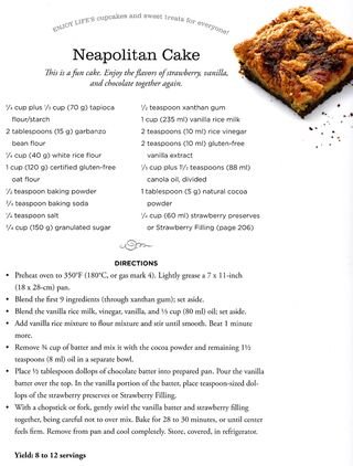 Recipe for neapolitan cake healthy