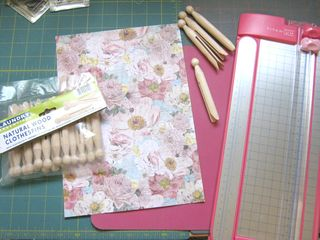 How to make a clothespin book scroll