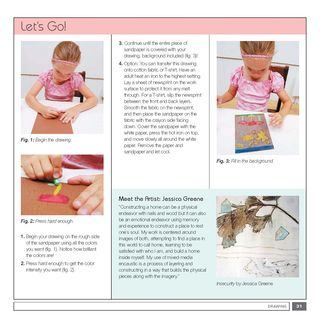 How to make a sandpaper transfer drawing