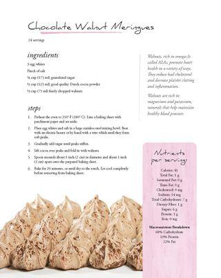 Recipe for Chocolate walnut meringues