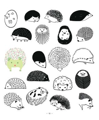 20 ways to draw a hedgehog how to