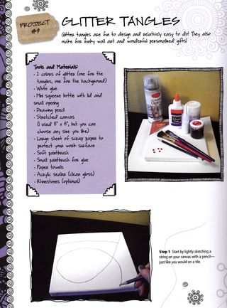 How to make glitter zentangles
