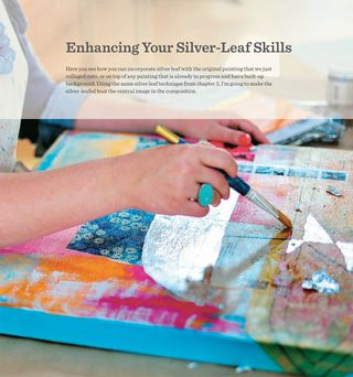 How to silver leaf in art painting