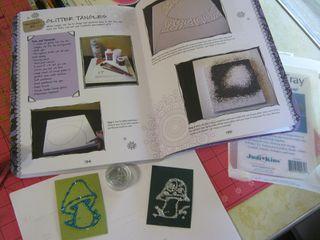 How to make glitter zentangle art