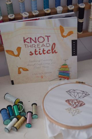 Knot thread stitch kreinik thread