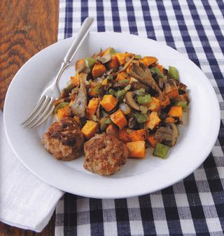 Sweet potato and mushroom hash recipe