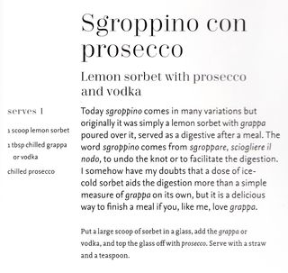 Cocktail recipe lemon sorbet prosecco vodka