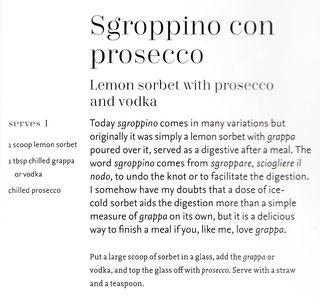 Cocktail recipe lemon sorbet prosecco vodka
