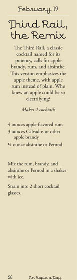 Recipe for a third rail cocktail apple