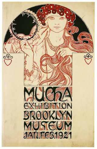 Mucha poster brooklyn museum 1921