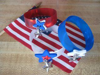 Rowlux 4th July bracelets stars buttons