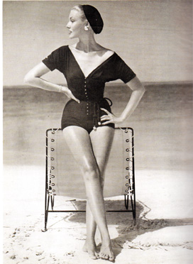 Claire McCardell swimsuit vogue 1953