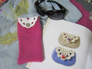 Recycled sweater eyeglass case