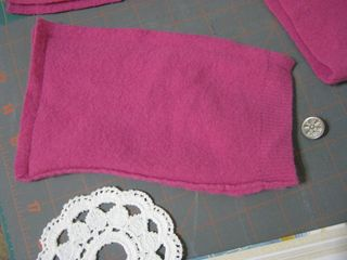 Doily sweater pocket