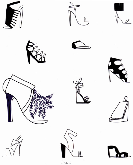 Craftside: How to draw 12 types of shoes from the book 20 ...