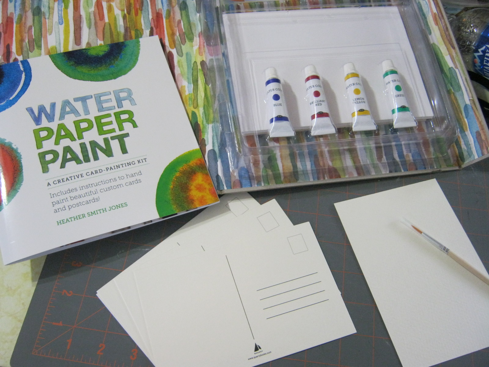 craftside how to paint a watercolor skull postcard and flatten a
