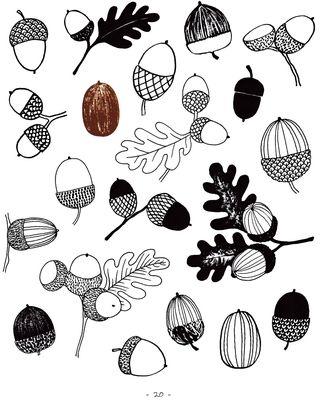 How-to-draw-acorns-clip-art