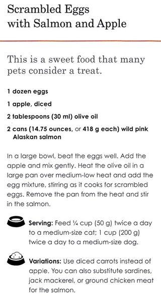Pet-food-recipe-eggs-salmon-apple