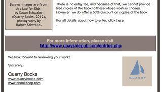 Quarry books call for entries