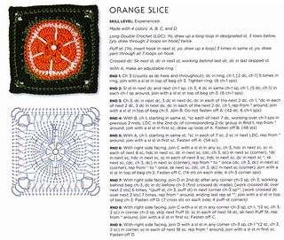 Orange-slice-granny square pattern