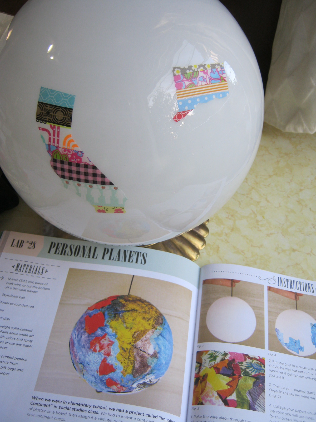Map art lab blog hop and how to make a personal planet quarto how to put washi shapes on lamp gumiabroncs Images